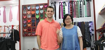 美国留学生中国创业 秀和马甲定制支持你