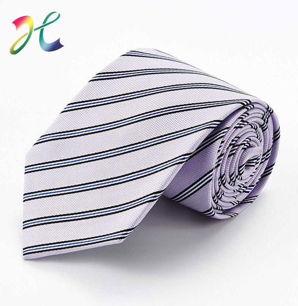 春季涤丝条纹休闲领带
