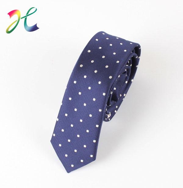 波点商务色织领带