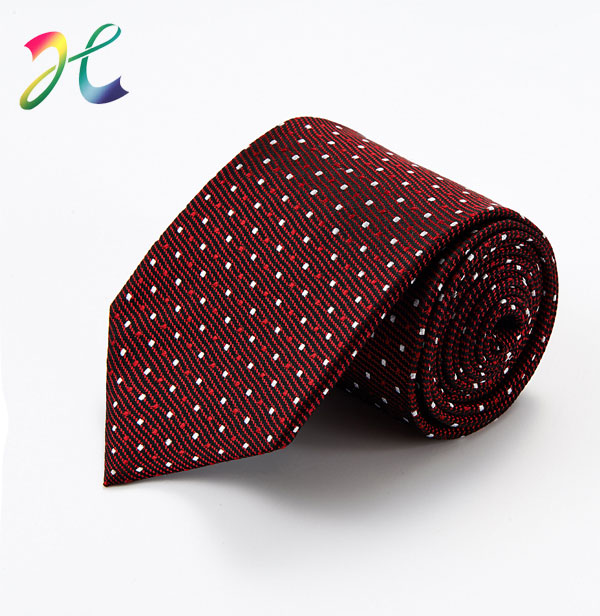 时尚深紫色波点婚庆领带