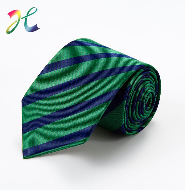 翠绿斜纹色织领带