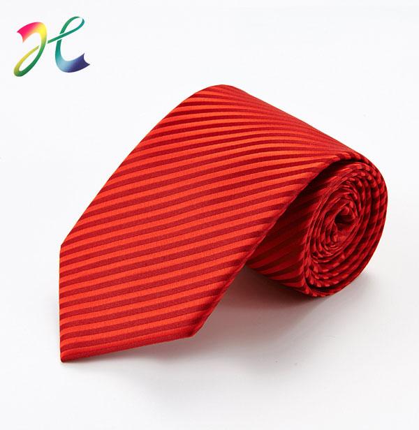 男士红色正装团体领带