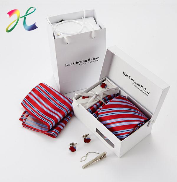 商务活动条纹领带 领带套装