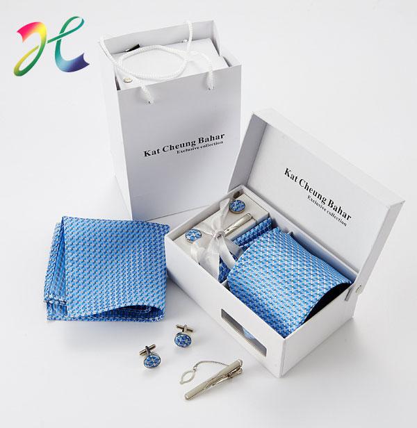 经典蓝色套装礼品领带