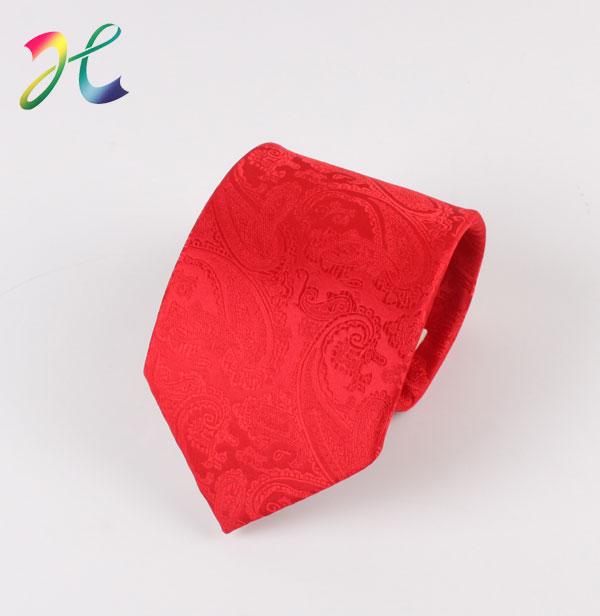 红色休闲晚装领带