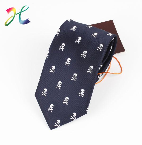 男士骷髅头时尚商务领带 正装领带