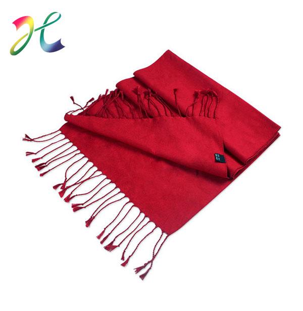 本命年大红色羊绒围巾定制