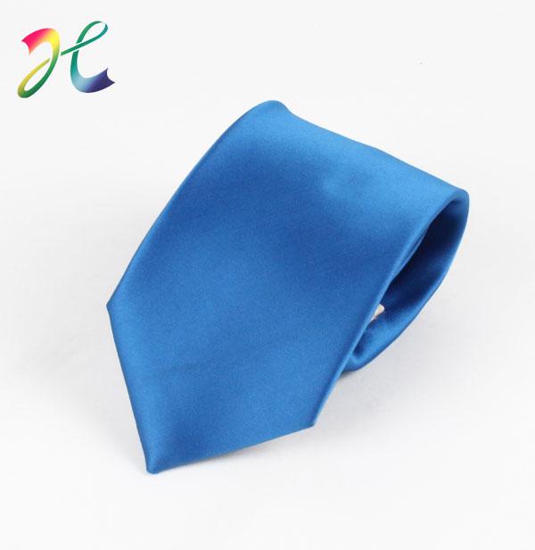 男士纯色宝蓝时尚领带定制