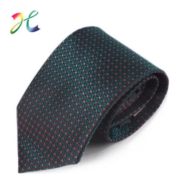 男士新款格子涤丝领带