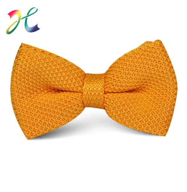 各色时尚纯色针织领结定制