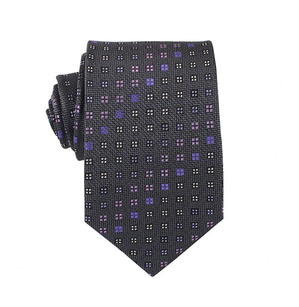 渐变方格涤丝领带