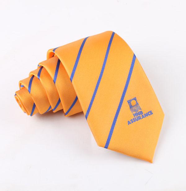 外贸logo涤丝领带加工