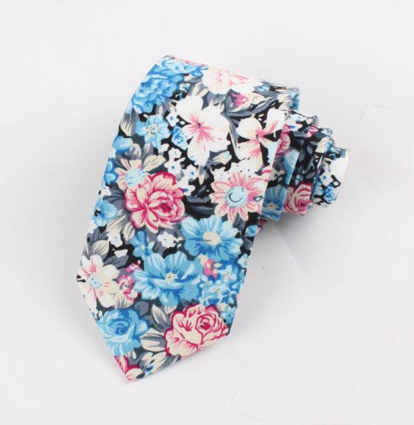 定制款印花棉领带