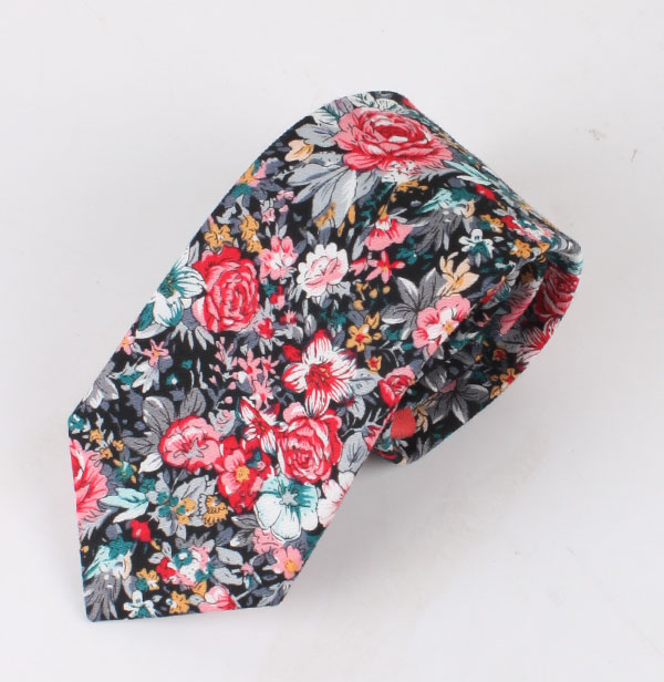 时尚印花棉领带定制