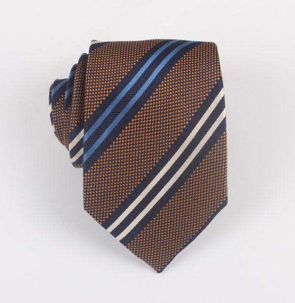 商务涤丝条纹领带加工